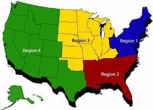 nacvsa, nacvsa regions